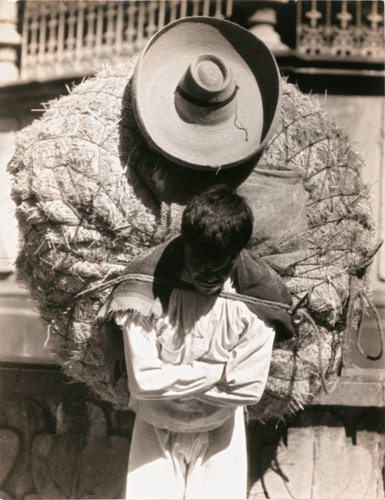 "Untitled [""Man carrying a load of straw on his back""]"