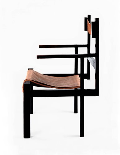 Slatted armchair
