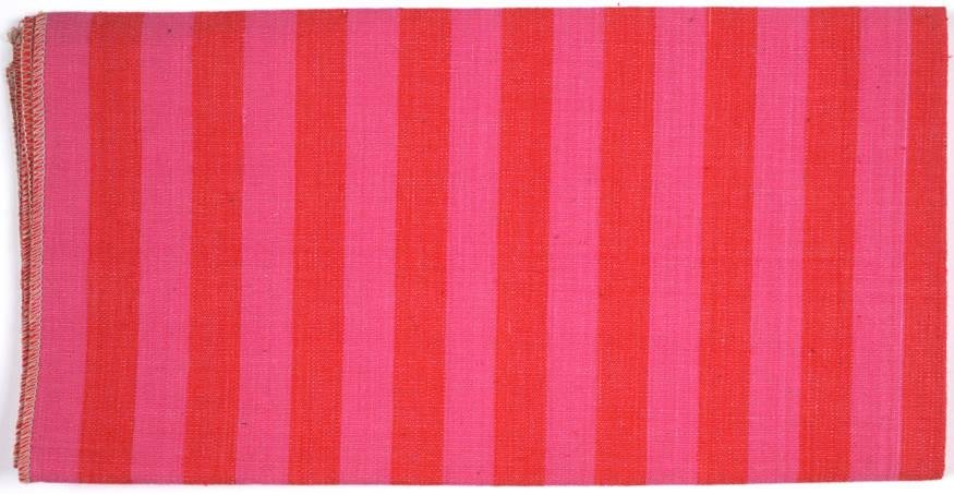image of 'Mexicotton Stripe #1233 Varied Use Fabric [Pink and crimson]'