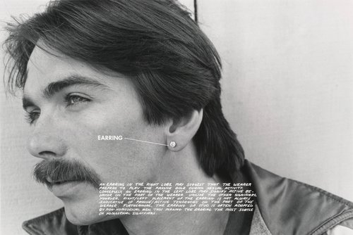 Earring, from the series Gay Semiotics