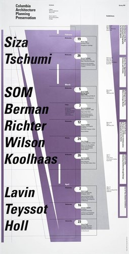 Columbia University School of Architecture, Planning, and Preservation, Spring 1997 Lecture Series Poster