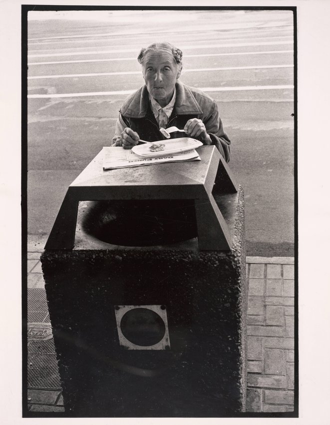 image of 'Untitled [Trash can dinner]'