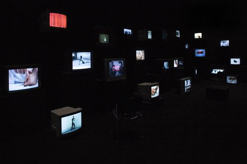 Pretty much every film and video work from about 1992 until now. To be seen on monitors, some with headphones, others run silently and all simultaneously.