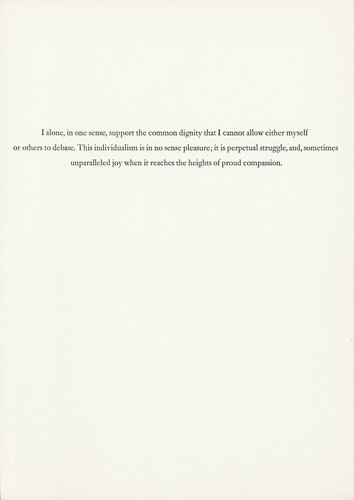 The Rebel Albert Camus: Twenty-Five Typographic Meditations [page 10]