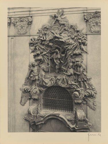 O. Mosto: Střední relief sv. Jakuba (Central relief, Church of St. James the Greater, from the portfolio Jakubský Cyklus)