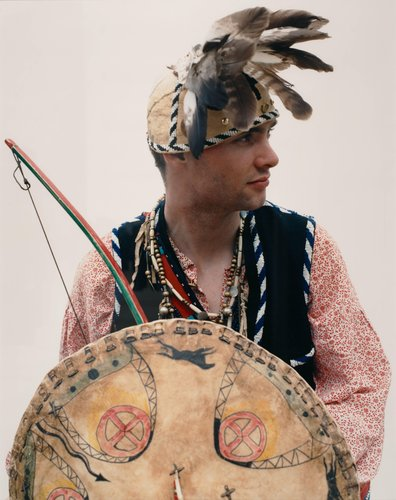 Young Man with Shield, from the series German Indians