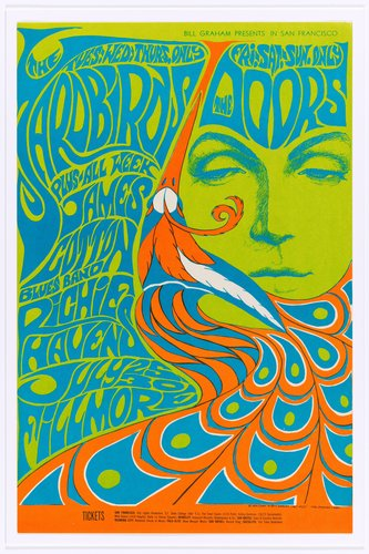 The Yardbirds, The Doors, Fillmore Auditorium; San Francisco, July 25-30, 1967