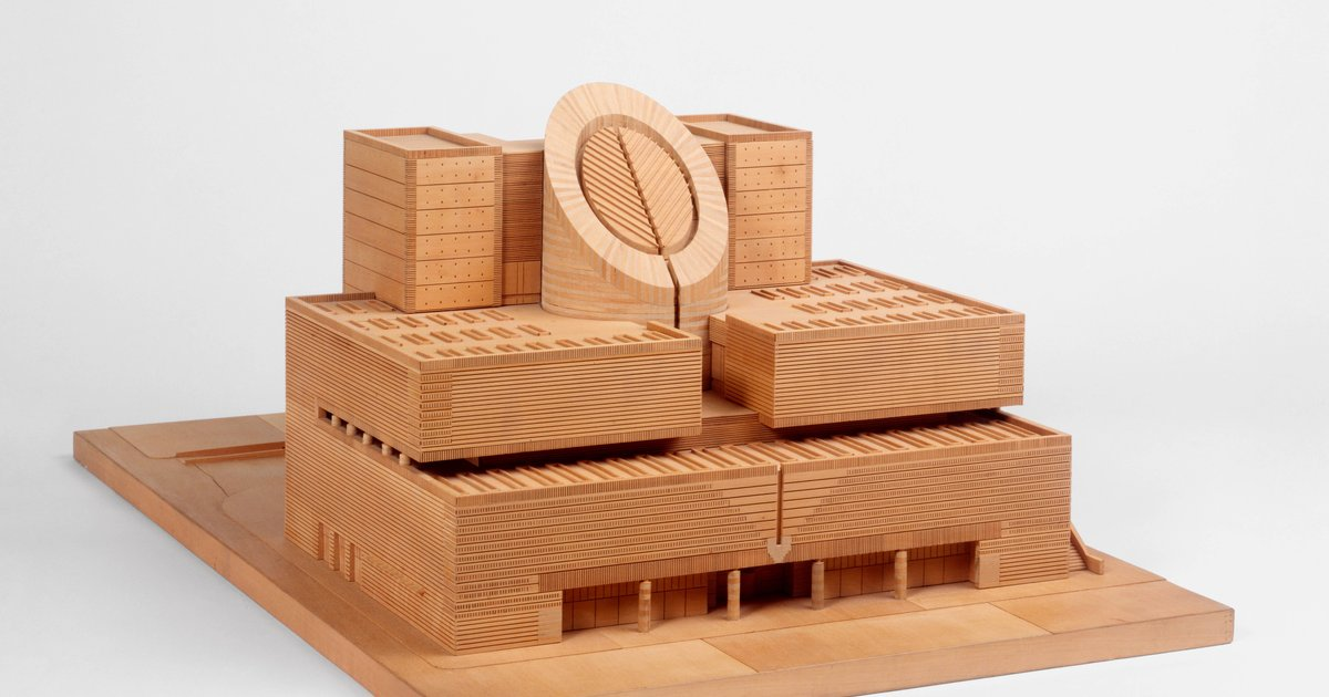 Mario Botta Sfmoma Presentation Model 1991 183 Sfmoma