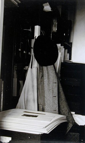 An American Place - Alfred Stieglitz's Hat and Coat in Stieglitz's Vault