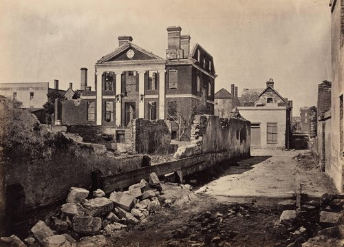 Ruins of the Pinckney Mansion, Charleston, South Carolina, from Photographic Views of Sherman's Campaign