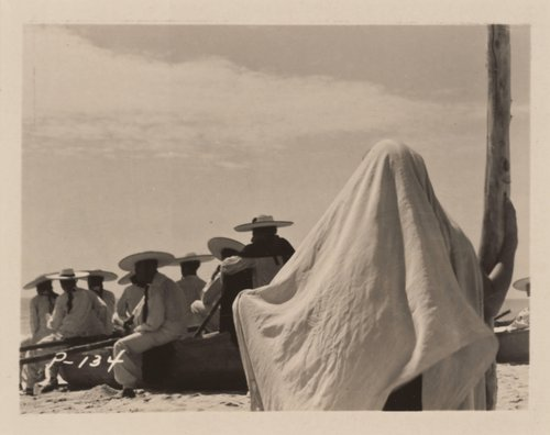 Untitled [From the set of the film La perla (The Pearl) based on the novel by John Steinbeck]