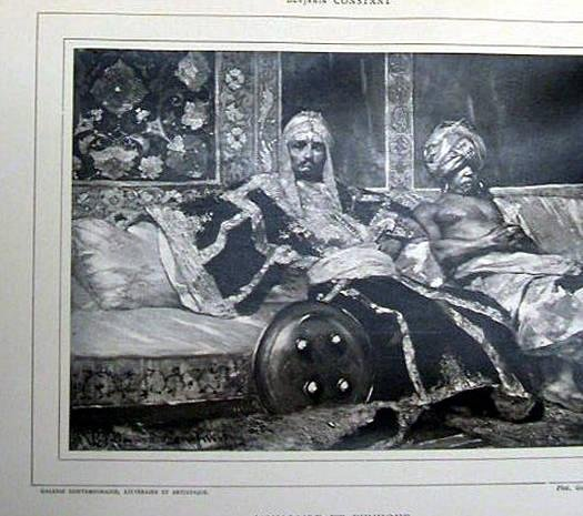"image of 'Untitled [Reproduction of ""Janissaire et Eunuque"" by Benjamin Constant], from the publication Galerie Contemporaine'"