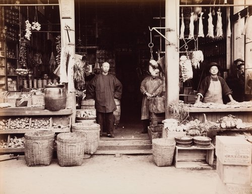 Chinese Butcher and Grocery Shop, Chinatown, San Francisco