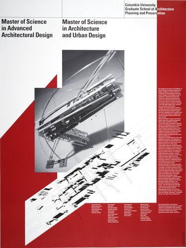 Columbia University, Master of Science in Advanced Architectural Design poster