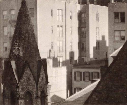 View of Rooftops and Apartments, New York