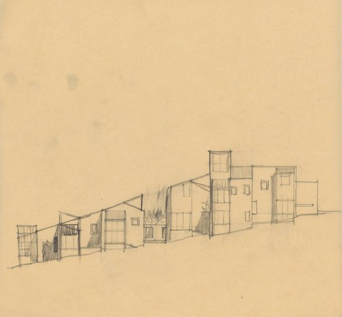 Sketch for Condominium One, The Sea Ranch, California