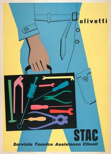 Olivetti STAC Servizio Tecnico Assistenza Clienti poster