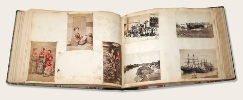Untitled (Mixed Topographical Album, including views of Australia, Niagara Falls, Japan, India, and Mexico)