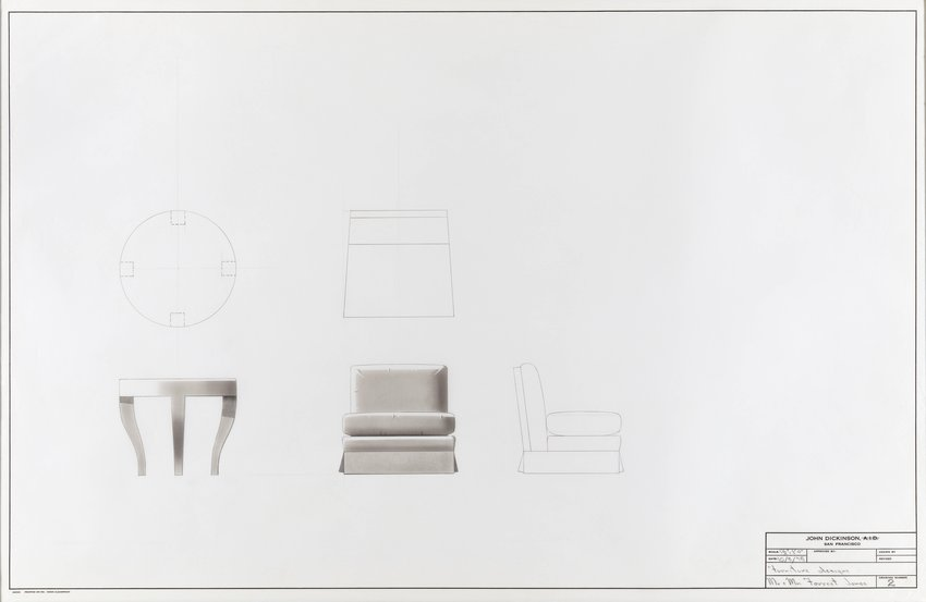 John Dickinson, Furniture Designs For Mr. And Mrs. Forrest Jones, 1975