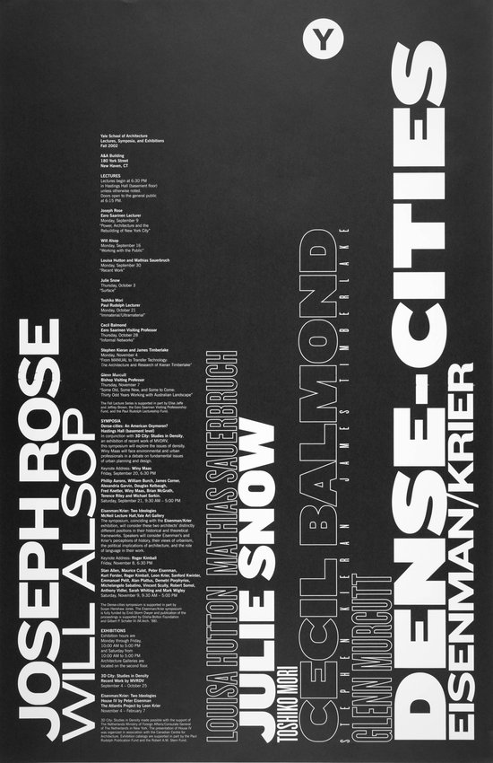image of 'Yale School of Architecture Lectures, Exhibitions, and Symposia Fall 2002 poster'