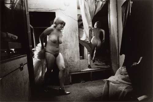 Through the Dressing Room, Barton, Vermont, from the series Carnival Strippers