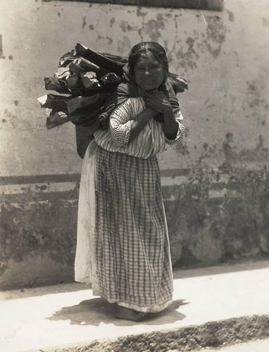 Untitled (Woman Carrying Load of Wood)