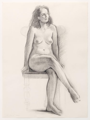 Untitled (Seated Female/Figures)
