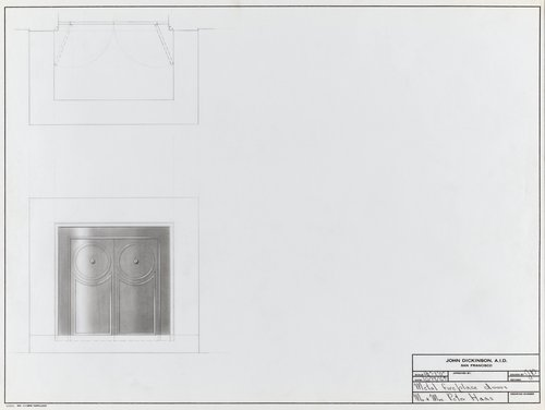 Metal fireplace doors for Mr. and Mrs. Peter Haas