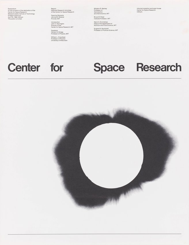 image of Center for Space Research Symposium, Massachusetts Institute of Technology poster