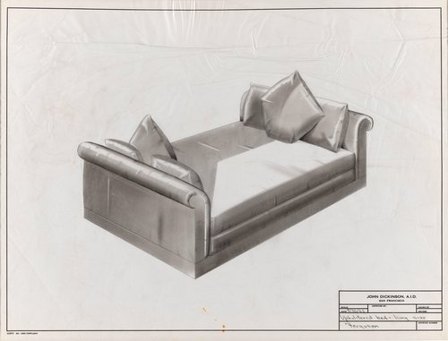 King size upholstered bed for Ferguson