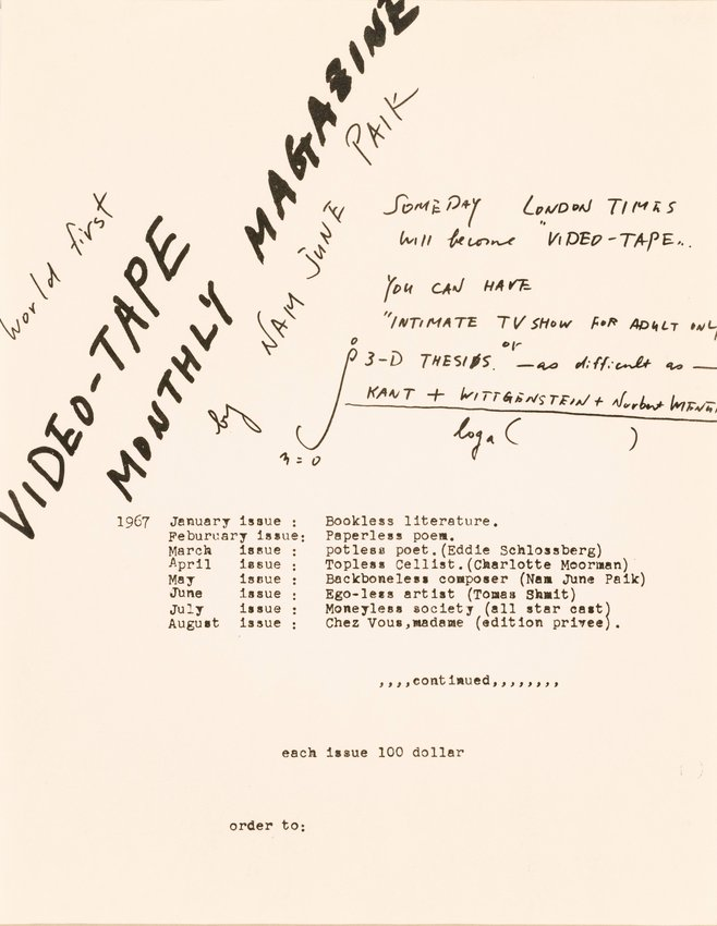 image of World First Video-Tape Monthly Magazine
