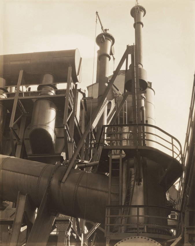 image of 'Bleeder Stacks, River Rouge Plant, Ford Motor Company'