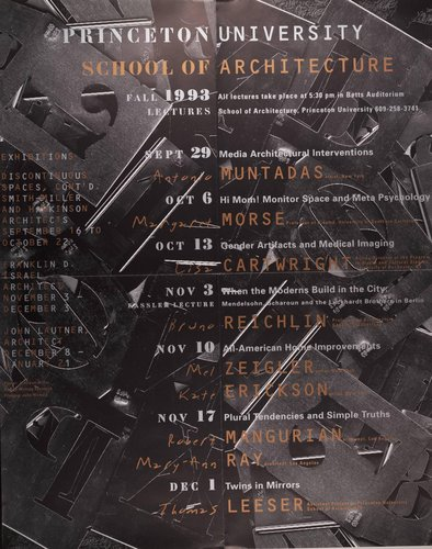 Princeton University School of Architecture Fall 1993 Lectures