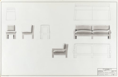 Upholstered frame collection for Randolph & Hein