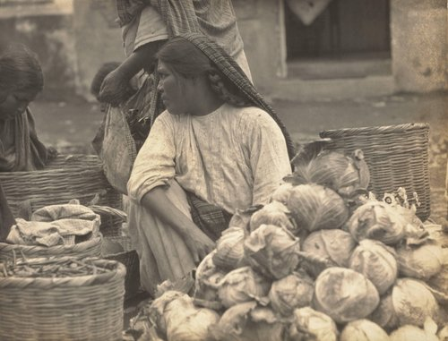 "Untitled [""Indian woman selling cabbage""]"