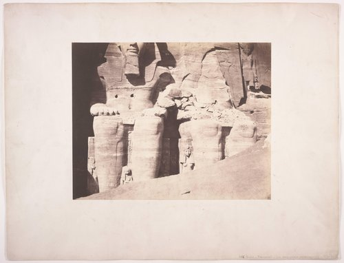 Abu Simbel, Large Speos - Colossal Statues Seen from the Front (Lower Part)