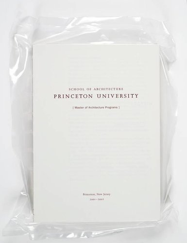 Princeton School of Architecture MA Program Catalog