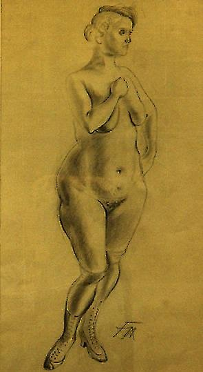 image of 'Stehender Akt mit Hut (Standing Nude with Hat)'