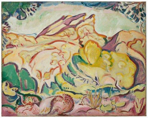 Paysage (Le Bec de l'Aigle, La Ciotat) (Landscape [The Eagle's Beak, La Ciotat])
