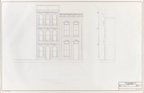 Untitled [Elevation and section]