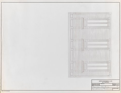 Terrace Elevation for Guesthouse for Firehouse