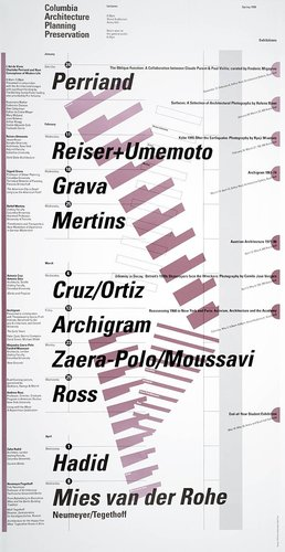 Columbia University School of Architecture, Planning, and Preservation, Spring 1998 Lecture Series Poster