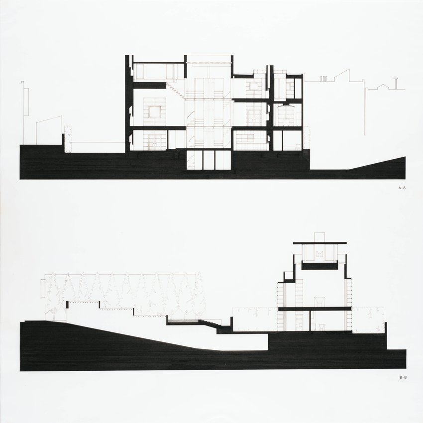 image of 'House for Nancy and Steven Oliver, San Francisco, California (Building Sections)'