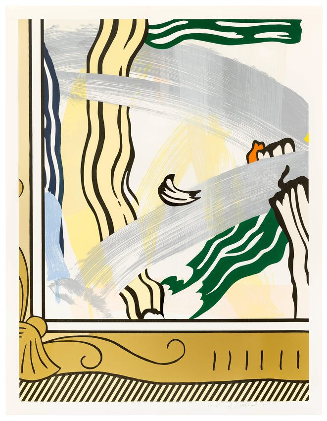 Roy Lichtenstein, Painting in Gold Frame, from the series \