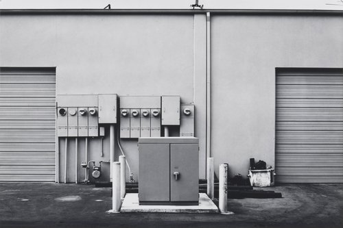 North Wall, Niguel Hardware, 26087 Getty Drive, Laguna Niguel, from the portfolio The New Industrial Parks near Irvine, California