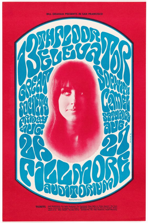 image of '13th Floor Elevators, Great Society, Sopwith Camel; Fillmore Auditorium, August 26-27, 1966'