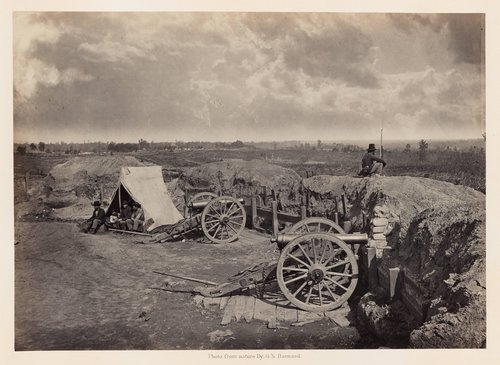 Rebel Works in Front of Atlanta, Georgia, No. 4, from Photographic Views of Sherman's Campaign