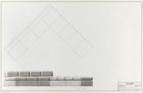 Sofa design for lounge for J. Patrick Mahoney