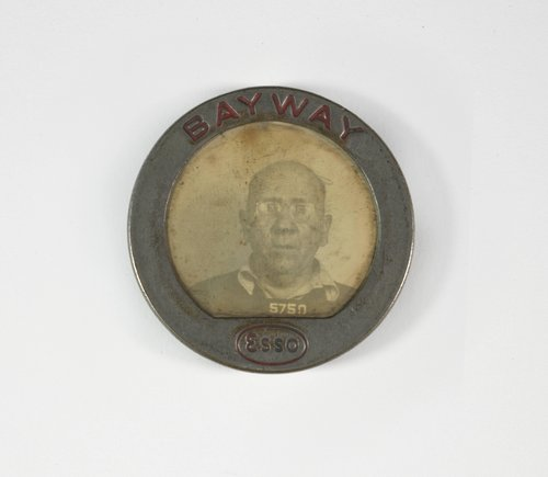 Untitled [Identification badge from Esso-Bayway]