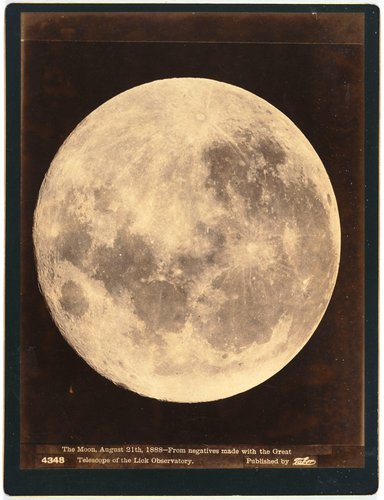 The Moon, August 21st, 1888--From negatives made with the great telescope of the Lick Observatory